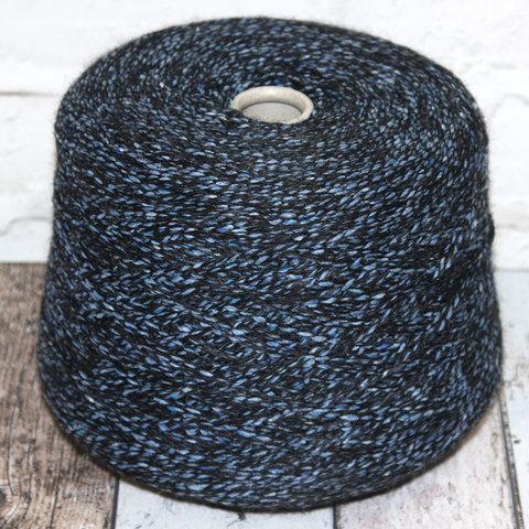 Смесовка с альпакой и мериносом SOFT TWEED 150  сине-черный