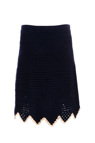 Женственная вязанная юбка от Chanel, 40 размер.