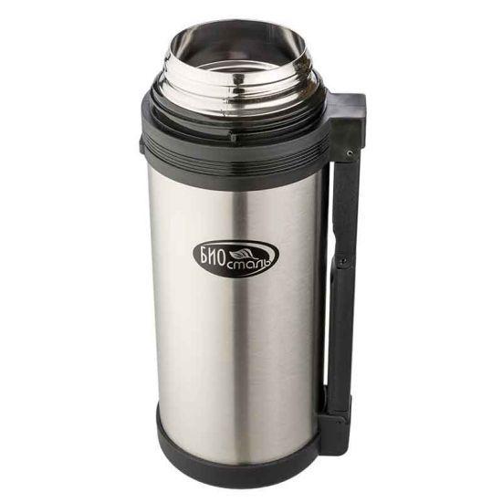 Термос универсальный (для еды и напитков) Biostal (1,8 литра), стальной*