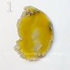 Подвеска Срез Агата (тониров), цвет - солнечный желтый, 70-100 мм (№1 (70х51 мм))