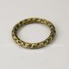 Коннектор - кольцо с узором 24 мм (цвет - античная бронза)