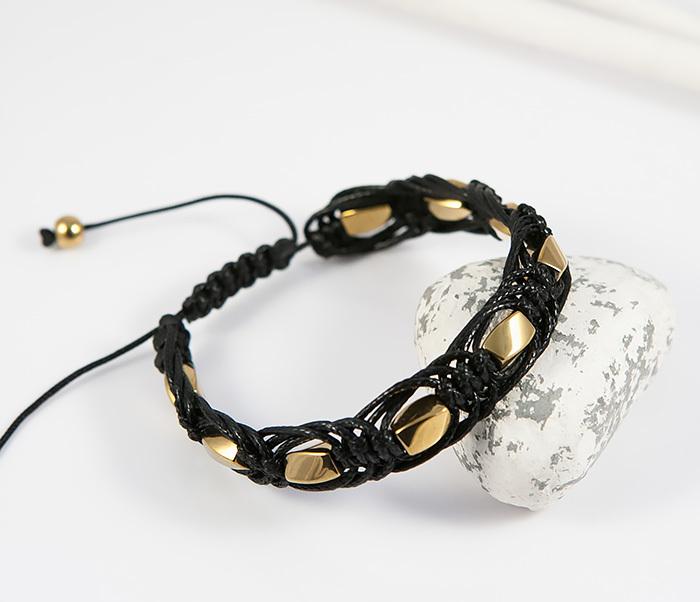 Boroda Design, Мужская шамбала из натурального камня золотистого цвета, ручная работа boroda design мужская шамбала из камня с буддой