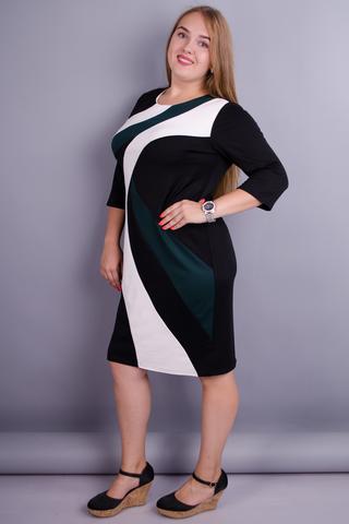 Клавдія. Вишукане плаття для жінок плюс сайз. Смарагд.