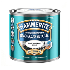 Краска полуматовая Hammerite (белая)