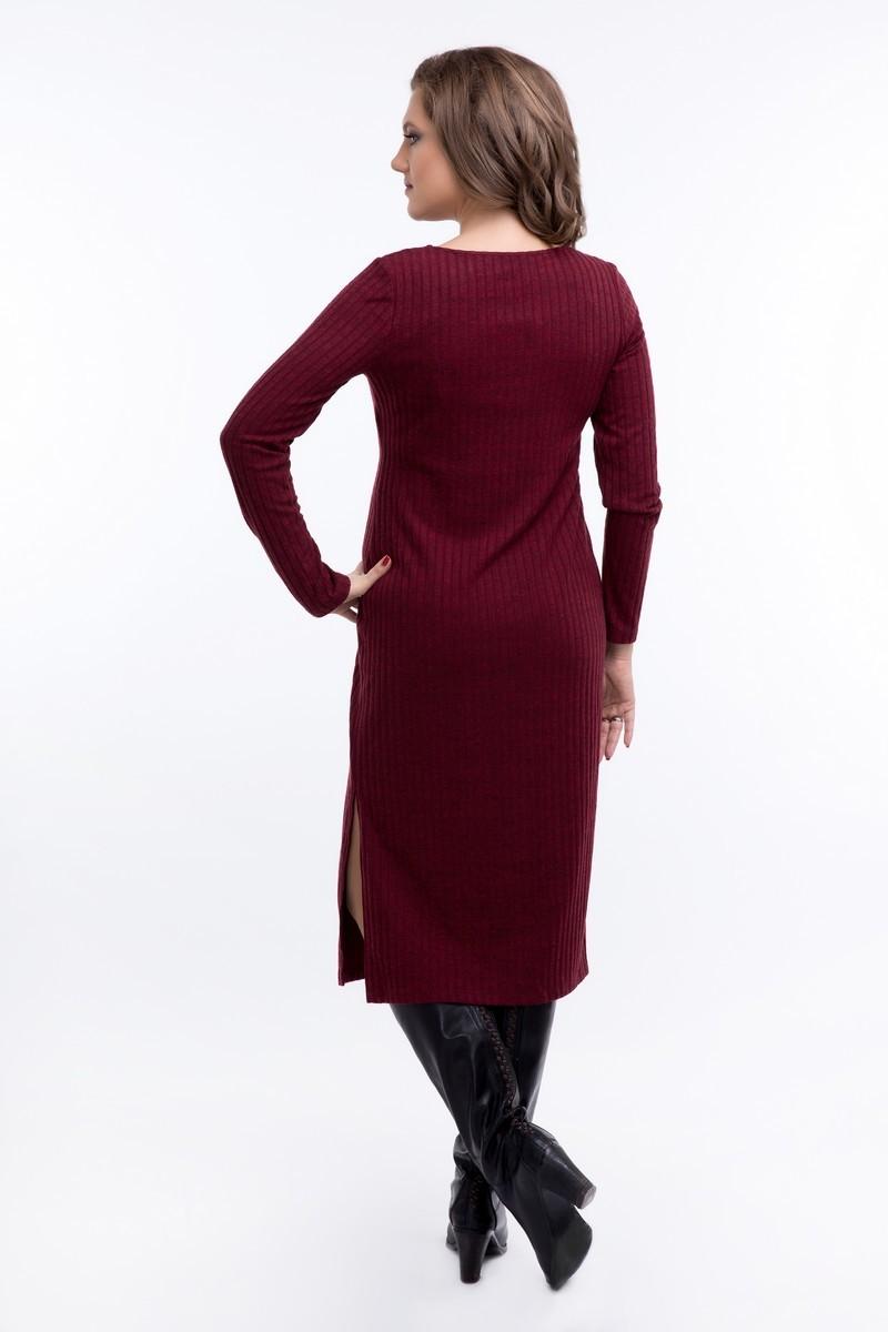 Платье 08921 бордовый