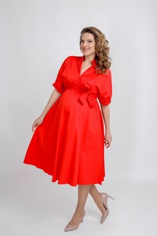 Платье 09564 красный