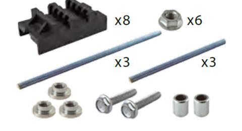 Набор шинных держателей НШД 2/10 TN для 3Р+N шин 30-120 x 10 мм TDM