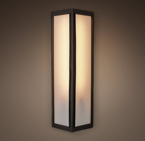 Бра DENTON NARROW MILK GLASS SCONCE TALL
