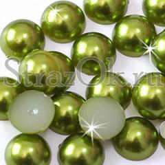 Купить полубусины оптом в интернет-магазине Olivine оливковые зеленые
