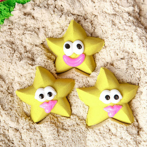 Космический песок 1 кг, желтый 5