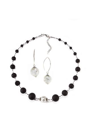 Комплект Monte Amiata Crystal Silver (ожерелье и серьги)