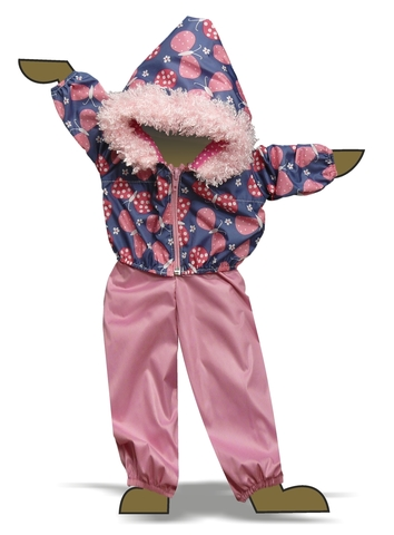 Костюм с курткой c мехом - Демонстрационный образец. Одежда для кукол, пупсов и мягких игрушек.