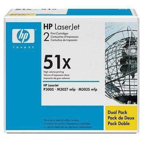 Двойная упаковка картриджей Q7551X для HP LaserJet M3027/ M3027x/ M3035/ M3035xs/ P3005d/ P3005dn/ P3005n/ P3005x/ P3005 (черный, 2x13000 стр.)