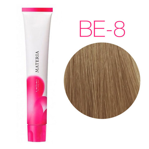 Lebel Materia 3D Be-8 (светлый блондин бежевый) - Перманентная низкоаммичная краска для волос