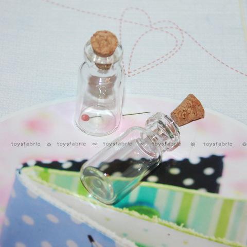 Стеклянная бутылочка с пробкой 16х35мм М13