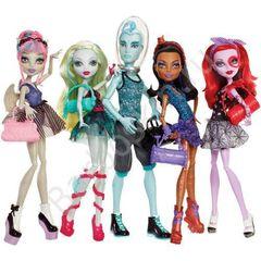 Набор из 5 кукол Monster High Рошель Гойл, Лагуна Блю, Гил Веббер, Робека Стим, Оперетта - Танцевальный класс (Dance class), Mattel