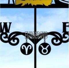 Медальоны для флюгера со знаками зодиака
