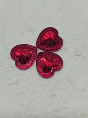 Стразы пришивные (Сердце грани) 18 мм, 1 шт.
