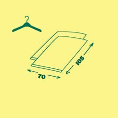 пакет вакуумный с вешалкой 70х105 см