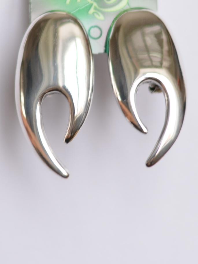 Капли (серьги из серебра)