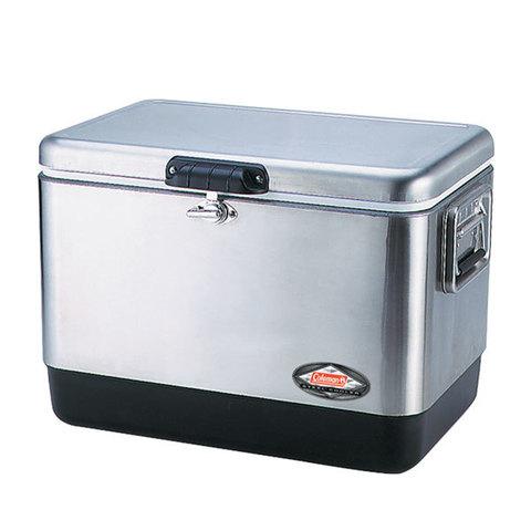Изотермический контейнер (термобокс) Coleman 54 Quart Stainless Steel Cooler (термоконтейнер, 51 л.)