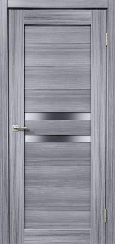 Дверь Дера Мастер 642, стекло белое, цвет сандал серый, остекленная
