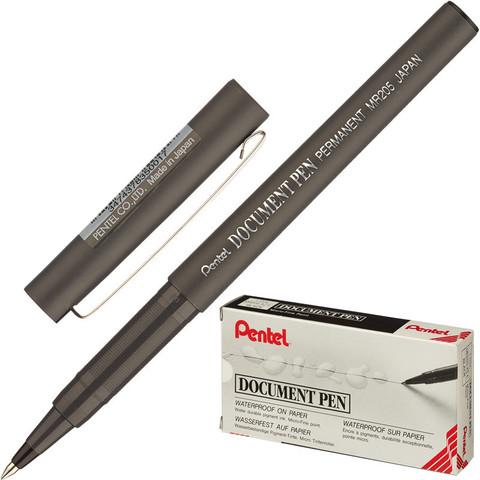 Роллер PENTEL Dokument Pen 0,3мм метал.клип, черный ст. Япония