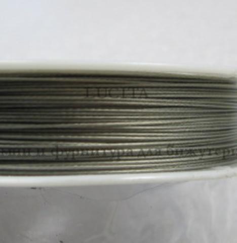 Тросик ювелирный 0,45 мм (цвет - античное серебро) примерно 50 метров ()