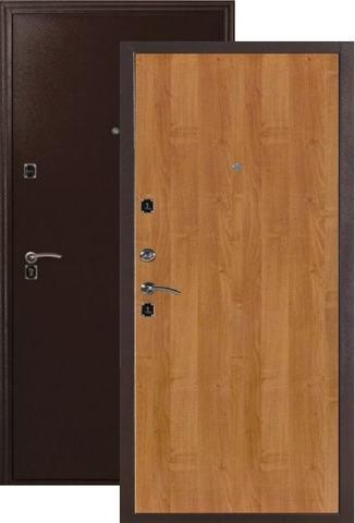 Дверь входная Меги ДС-180, 2 замка, 1 мм  металл, (медь+миланский орех)