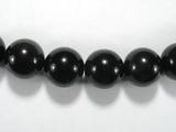 Бусина из обсидиана черного, шар гладкий 14мм