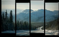 """Модульная картина """"Заснеженные горы"""""""