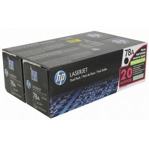 Двойной картридж HP CE278AF / CE278AD для принтера Hewlett Packard LaserJet Pro P1566, P1606dn. (ресурс 2 x 2100 страниц)