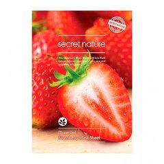 Secret Nature Strawberry Mask Sheet - Тонизирующая маска для лица с клубникой