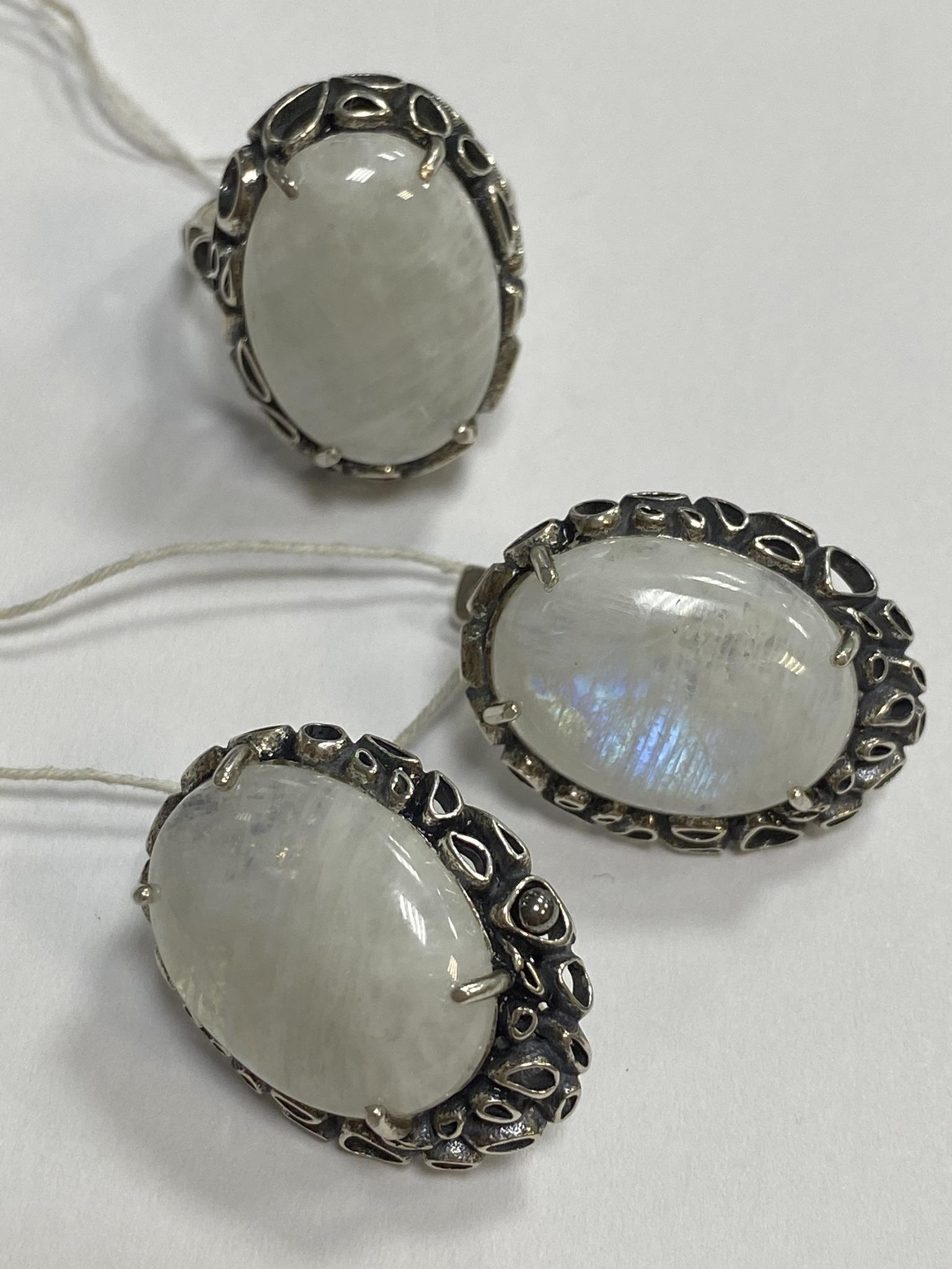 Роуз (кольцо + серьги из серебра)