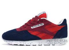Кроссовки Женские Reebok Classic Leather Dark Blue Red