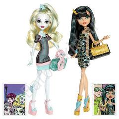 Игровой набор кукол Monster High Лагуна Блю (Lagoona Blue) и Клео де Нил (Cleo De Nile)  - Скариж (Scaris), Mattel