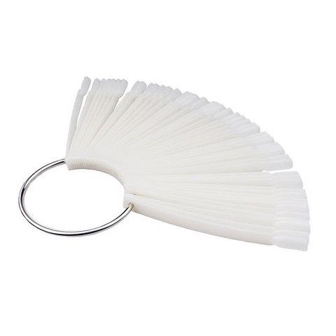 Дисплей для создания палитры веер на 30 ногтей матовый