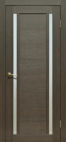 Дверь Fly Doors L-23, стекло матовое, цвет венге 3D, остекленная