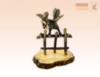 фигурка Петух на заборе на янтаре