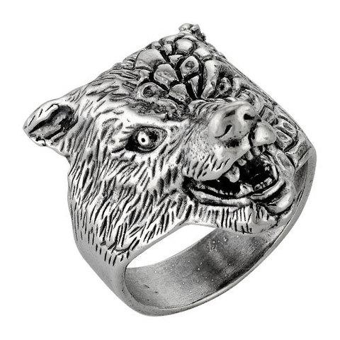 Кольцо печатка с серебрением