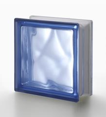 Стеклоблок полуматовый Blu Q19/O 1 LATO Vetroarredo (Италия) 19x19x8