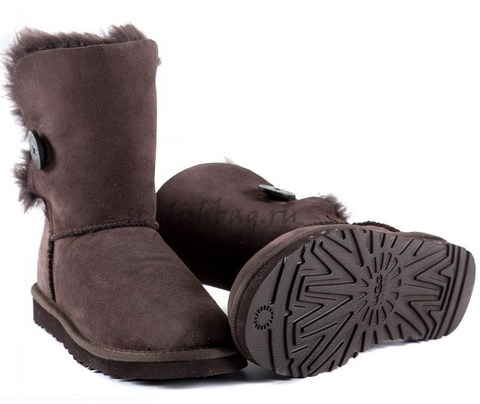 Женские угги UGG Bailey Button Chocolate