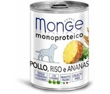 Monge Dog Monoproteico Fruits Консервы для собак из курицы с рисом и ананасами 24х400 г. (паштет) (70014311)