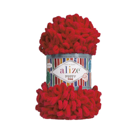 Купить Пряжа Ализе Пуффи Файн Код цвета 056 | Интернет-магазин пряжи «Пряха»