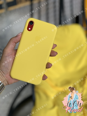 Чехол iPhone XR Silicone Case /canary yellow/ канареечный original quality