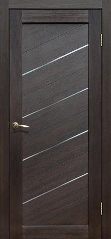 Дверь La Stella 215, стекло матовое, цвет дуб мокко, остекленная