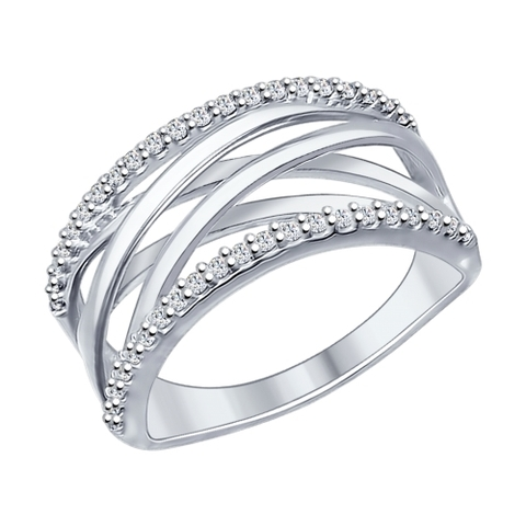 Кольцо из серебра с фианитами арт.94012032