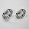 Пуссеты - гвоздики круглые 24 мм (цвет - античное серебро)(без заглушек)
