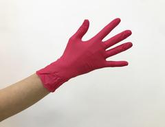 Перчатки нитрил красные Safe&Care M, 100 шт