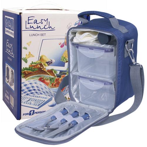 Термосумка с набором для пикника Camping World Easy Lunch 1 перс., синяя